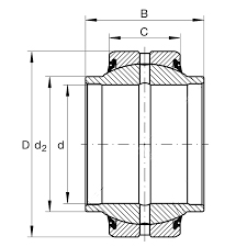Rulment cilindru hidraulic articulatie sferica TAF GEEW32-ES