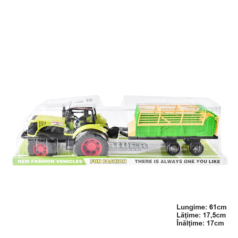 Jucarie Tractor cu remorca POWER Speed Horsepower verde