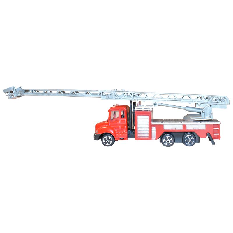 Masina de pompieri cu macara rosie jucarie