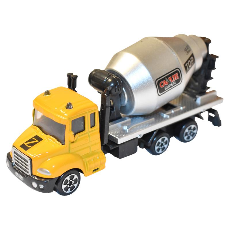 Masina betoniera galben/gri jucarie