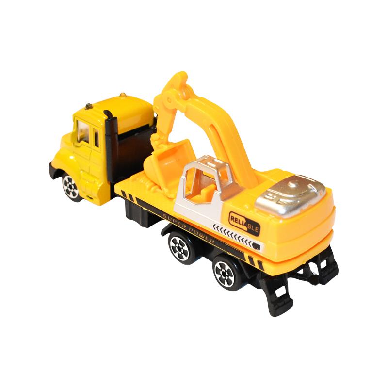 Masina excavator galben jucarie