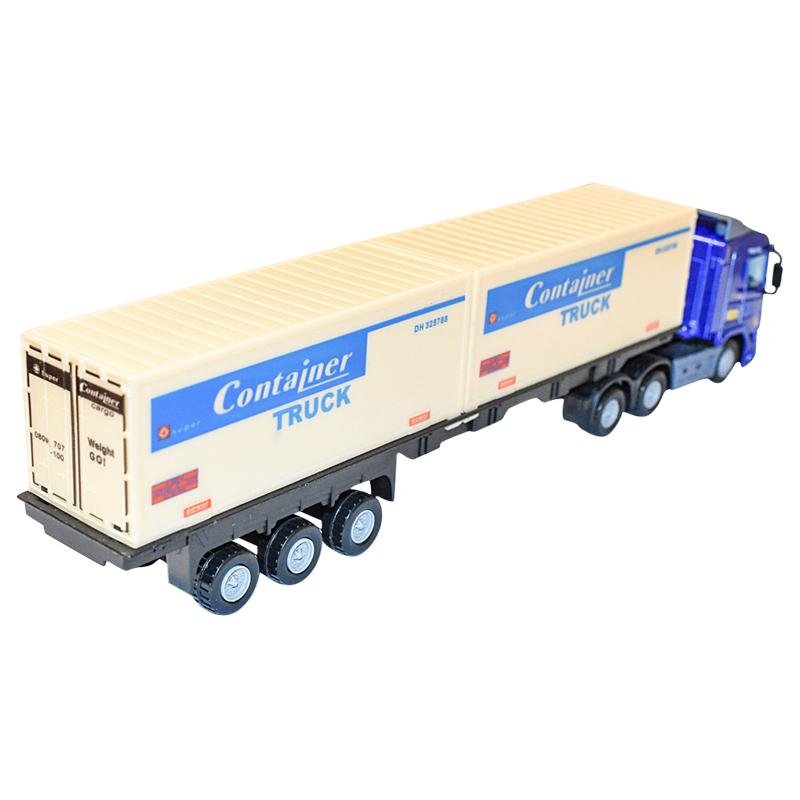 Camion (cap tractor cu remorca) Albastru jucarie