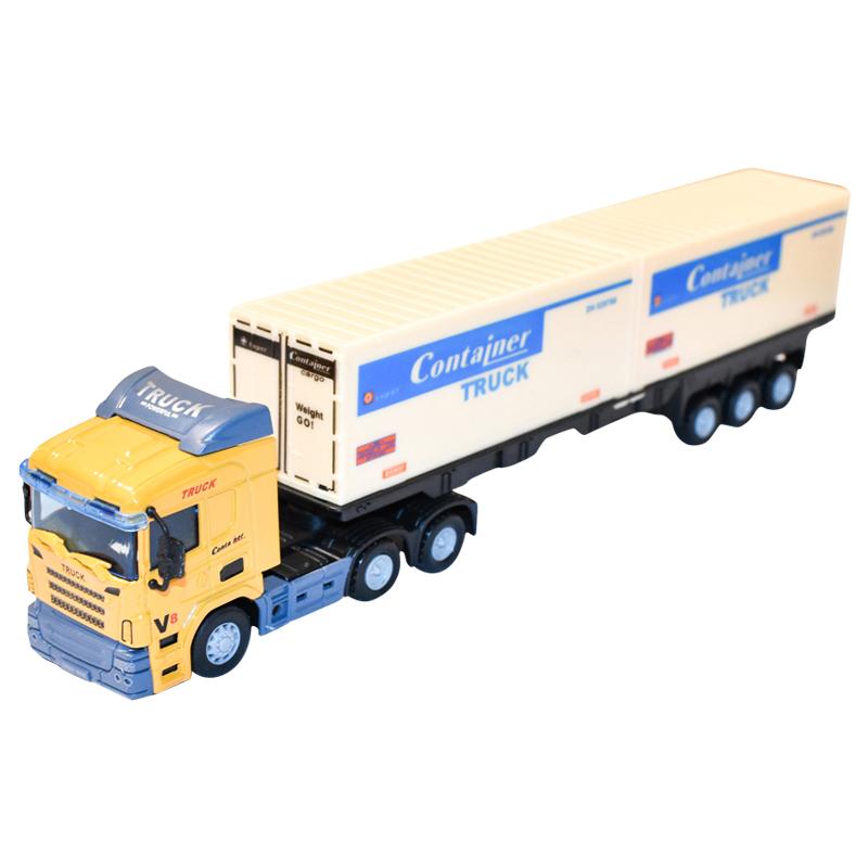Camion (cap tractor cu remorca) Galben jucarie