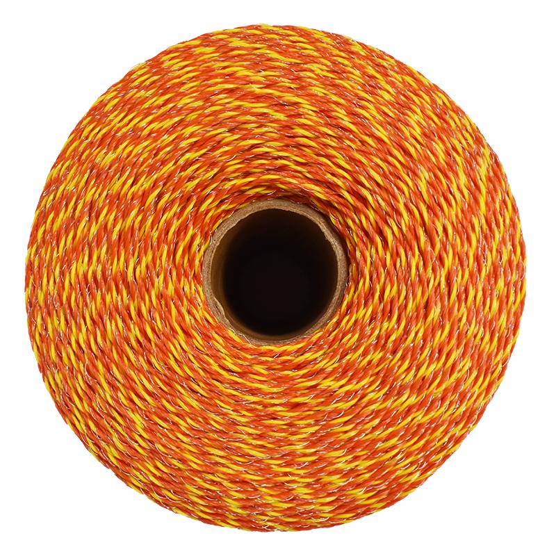 Rola fir 1000M 3mm 3x0.16mm portocaliu pentru gard electric Farma