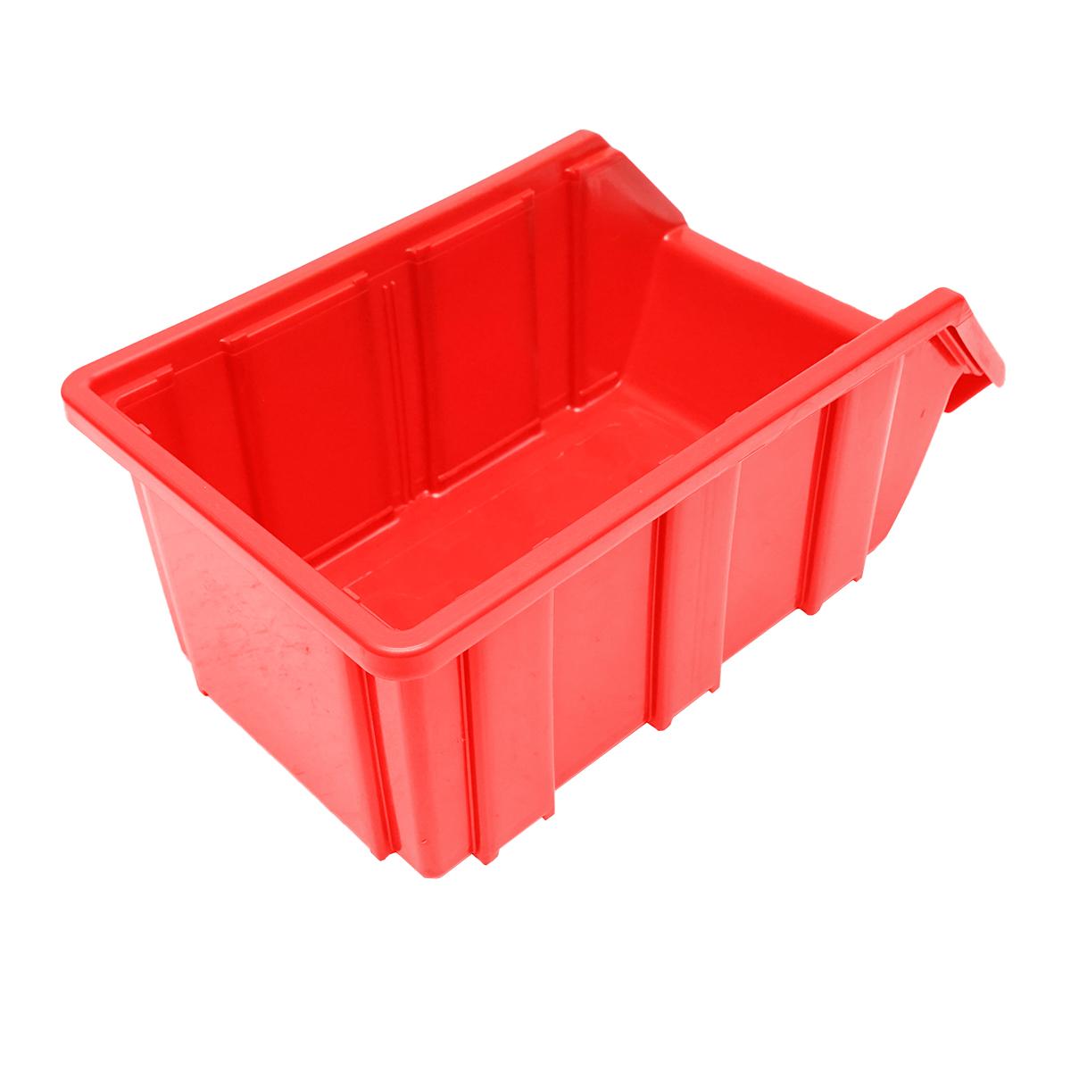 Cutie plastic depozitare 175x317x148mm rosie