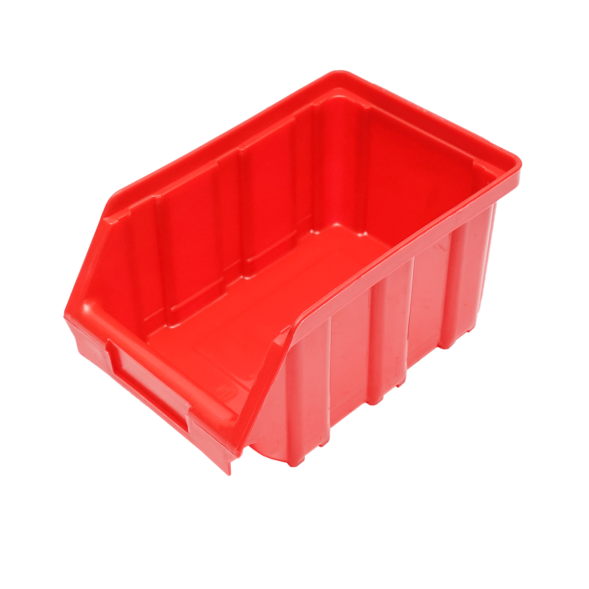 Cutie plastic depozitare 105x170x95mm rosie