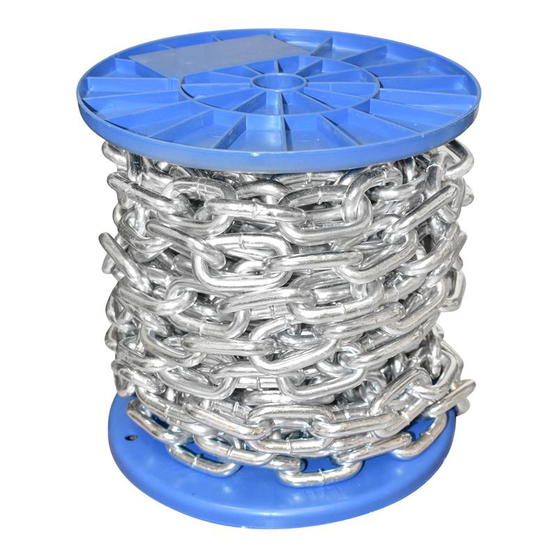 Lant electrogalvanizat 7.9x32.3x30mm DIN5685A 10m/rola tambur plastic