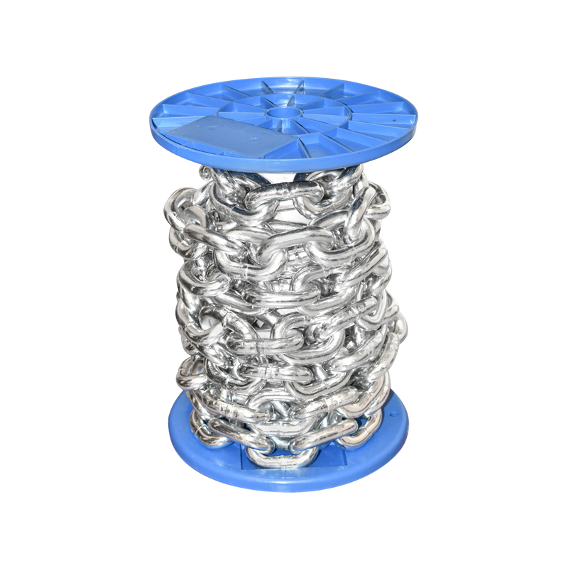 Lant electrogalvanizat DIN766 fi13 5m/rola tambur plastic