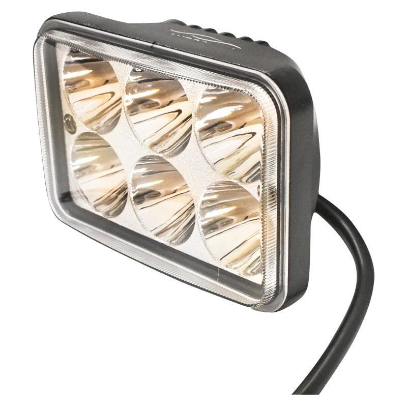Lampa 6 LED-uri 10-90V 18W unghi de radiere 60 patrat